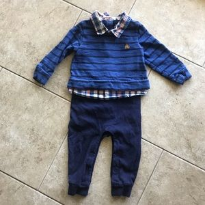 Boys Dressy Long Sleeve Gap Romper